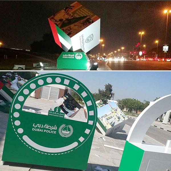 Signage works for Dubai Police